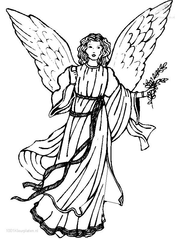 Mandala Kleurplaten Engelen.Kleurplaat Kerst Engelen Kerst Engel Kleurplaat