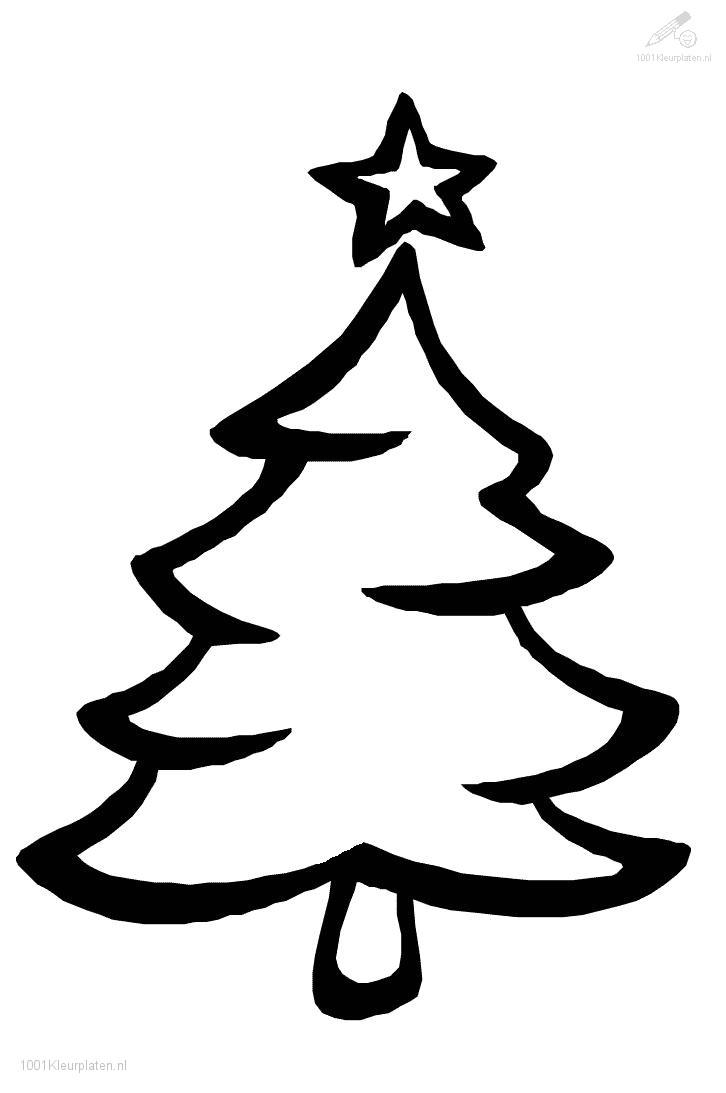 Kleurplaat Kerst Kerstbomen Kerstboom