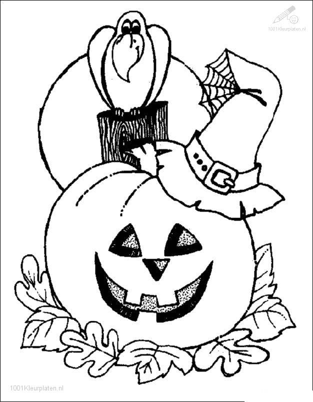 Kleurplaten Halloween.Kleurplaat Seizoen Halloween Kleurplaat Halloween