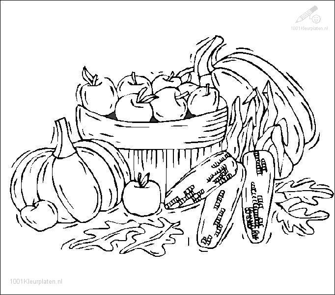 Allerlei Kleurplaten Herfst.Kleurplaat Seizoen Herfst Kleurplaat Herfst