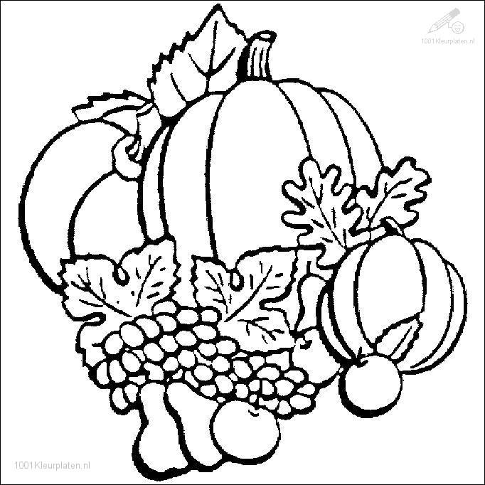 Kleurplaat Seizoen Herfst Kleurplaat Herfst Pompoen