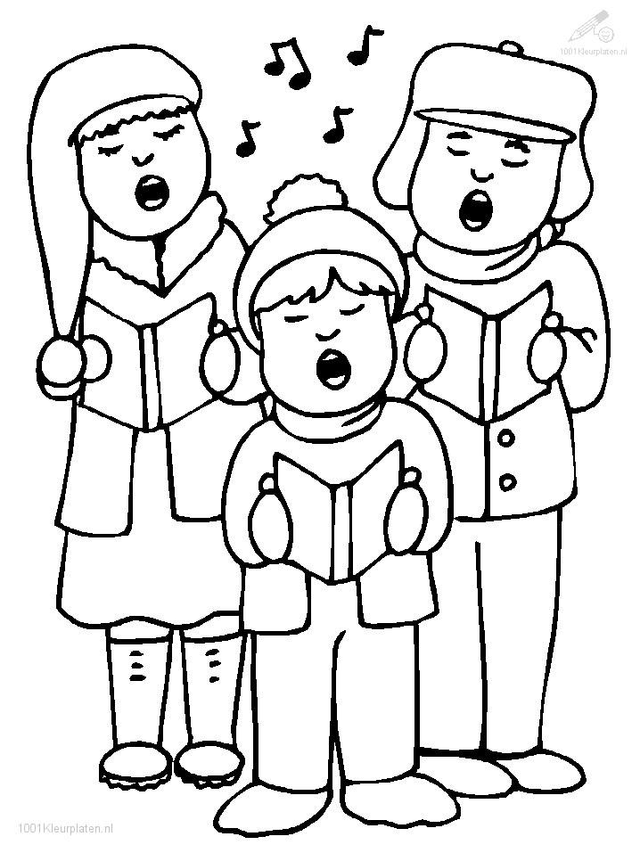 Kleurplaat: kleurplaat-kerst-liedje-zingen