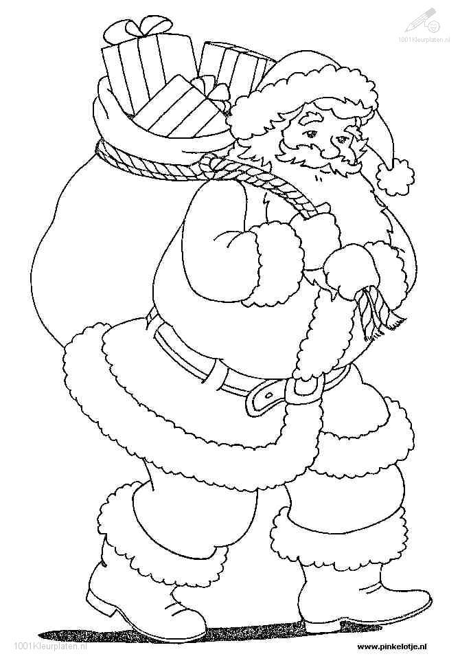 Kerstman Kleurplaat