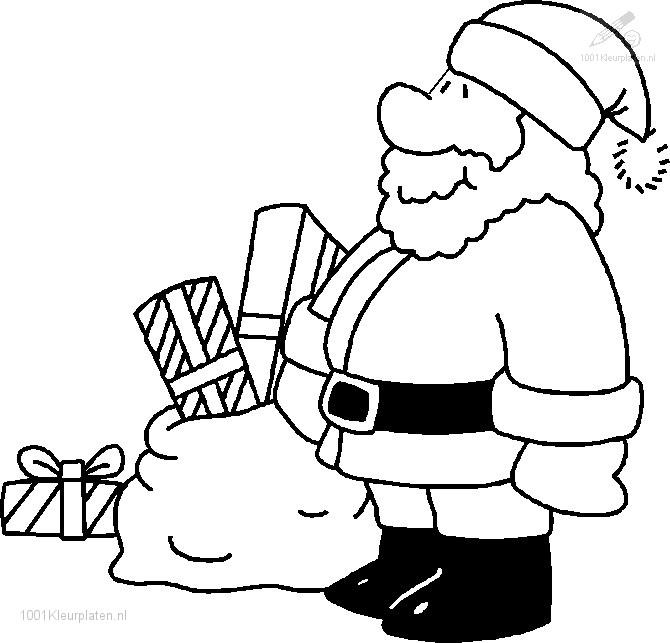 De Kerstman inkleuren