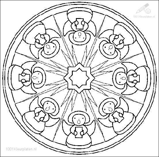 Kleurplaten Mandala Leeuw.Kleurplaat Fantasie Mandala Kleurplaat Mandala