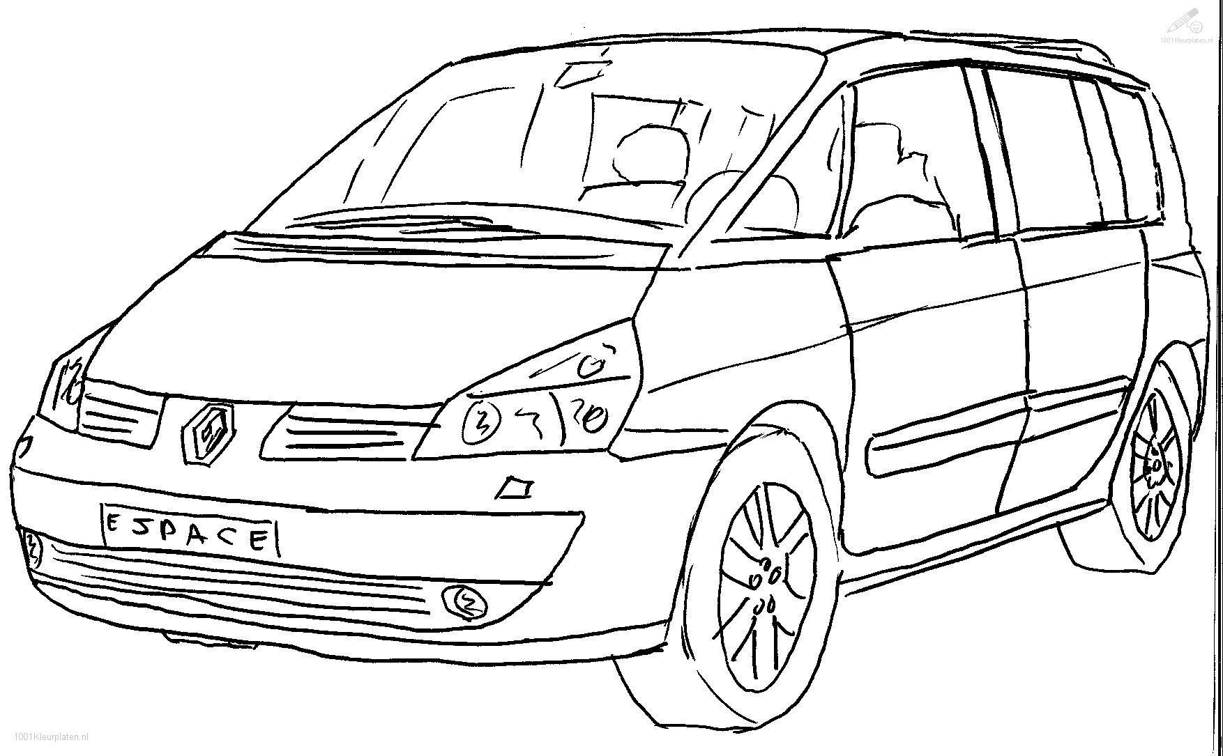 Kleurplaten Voertuigen Trein.Kleurplaat Voertuigen Auto Kleurplaat Renault