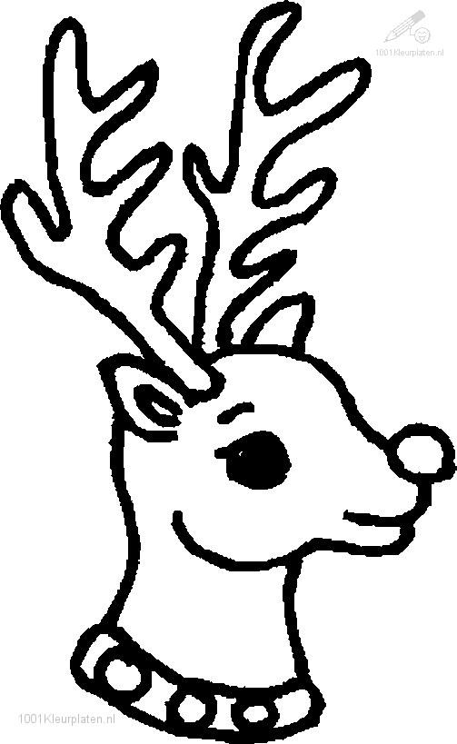 Kleurplaat Rudolf