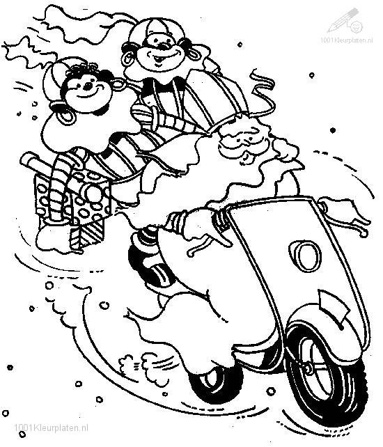 Sinterklaas Scooter Kleurplaat Kleurplaat Sinterklaas