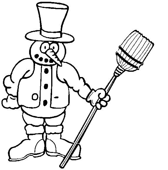 Kleurplaat: kleurplaat-sneeuwpop-j