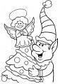 Kleurplaat kerst elf>> Kleurplaat met kerst elfje