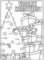 Kleurplaat kerstboom met pakjes>> Kleurplaat kerstboom met pakjes