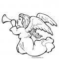 Kleurplaat kerst engel>> Kleurplaat kerst engel