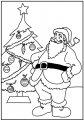 Kerstman bij de Kerstboom