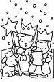 Kleurplaat 3 koningen>> 3 koningen zingen