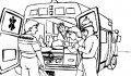 Kleurplaat Ambulance