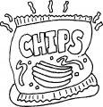 Kleurplaat Chips>> Kleurplaat Chips