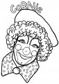 Kleurplaat lachende Clown