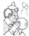 Kleurplaat Clown met ballon