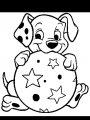 Kleurplaat Dalmatier