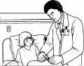 Kleurplaat Dokter>> Kleurplaat van de doktor uit het ziekenhuis