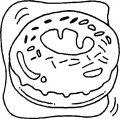 Kleurplaat Donut >> Kleurplaat Donut