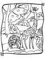 Giraffe Kleurplaat