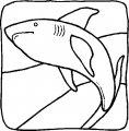 Kleurplaat Haai>> Kleurplaat Haai