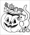 Kleurplaat Halloween >> Kleurplaat Halloween