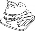 Kleurplaat Hamburger >> Kleurplaat Hamburger