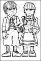Kleurplaat Hans en Grietje >> Kleurplaat Hans en Grietje