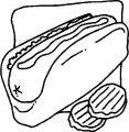 Kleurplaat Hotdog>> Kleurplaat Hotdog