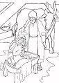 Kleurplaat Jezus geboren >> Kleurplaat over de geboorte van Jezus