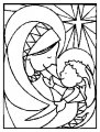 Kleurplaat Jezus en Maria >> Kleurplaat Jezus en Maria