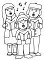 Zingende kinderen>> Zingende kinderen kleurplaat
