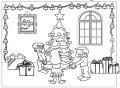 Kleurplaat Kerst sfeer >> Kleurplaat Kerst sfeer
