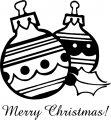 Kleurplaat kerstbal >> Kleurplaat kerstbal