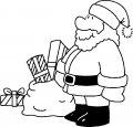 De Kerstman inkleuren >> De Kerstman inkleuren
