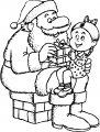 Kleurplaat Kerstman>> Kleurplaat Kerstman