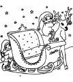 Kleurplaat Kerstman Slee