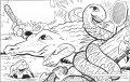 Kleurplaat Krokodil>> Kleurplaat Krokodil