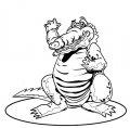 Kleurplaat Krokodil >> Kleurplaat Krokodil