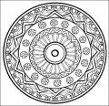 Kleurplaat Mandala >> Kleurplaat Mandala