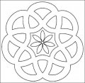 Kleurplaat Mandala