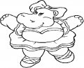 Kleurplaat Nijlpaard >> Kleurplaat Nijlpaard