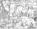 Kleurplaat Olifant >> Kleurplaat Olifant