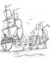 Kleurplaat Piratenschip