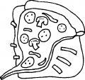 Kleurplaat Pizza>> Lekker pizza