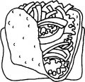 Kleurplaat Shoarma>> Kleurplaat broodje shoarma