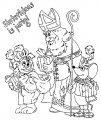Kleurplaat Sinterklaas en Piet>> Kleurplaat Sinterklaas en Piet