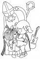 Kleurplaat Sinterklaas en Piet >> Kleurplaat Sinterklaas en Piet